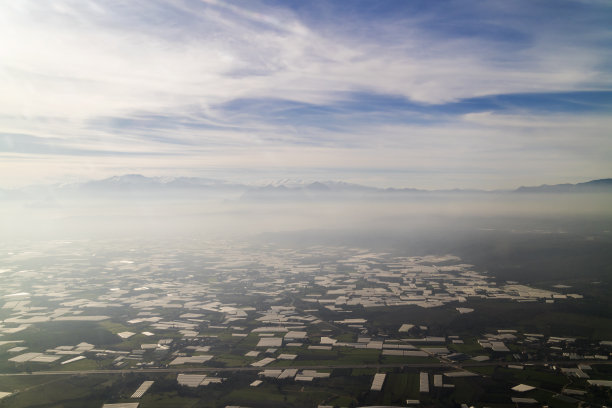 土耳其航拍视角温室