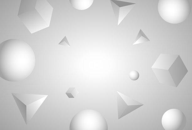 留白抽象白色