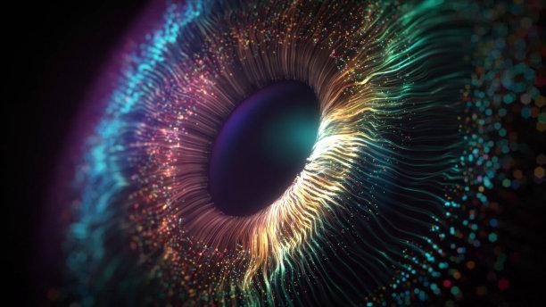 人的眼睛波形图片