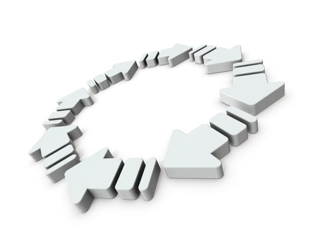 三维图形白色背景箭头符号