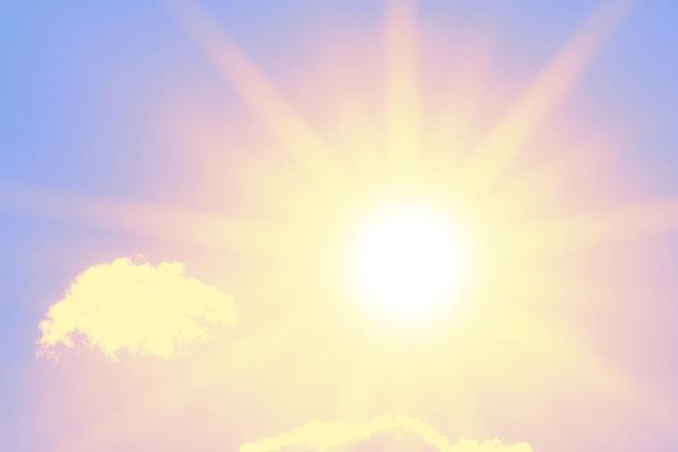 日光,阳光光束,自然美