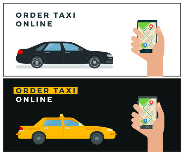 出租车,有序,扁平化设计