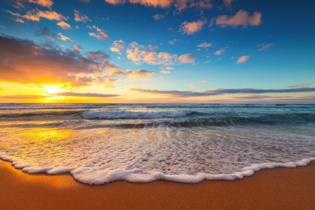 海洋,岛,黎明