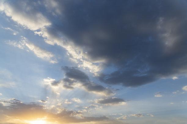 多色的,日落,背景