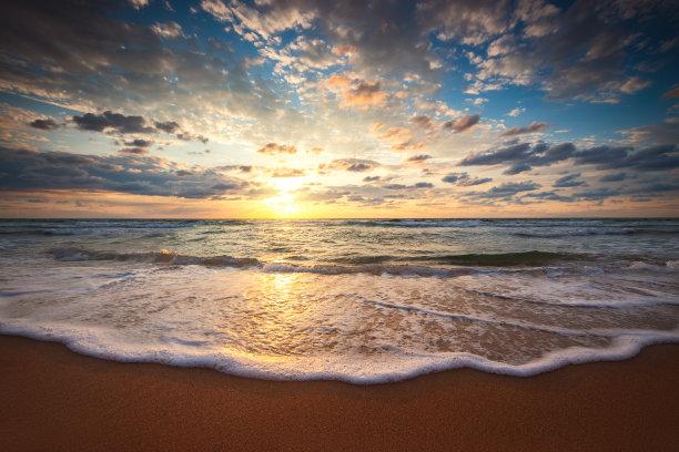 黎明,云景,海洋