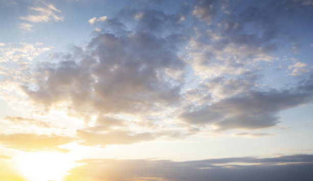 日落,戏剧性的天空,自然
