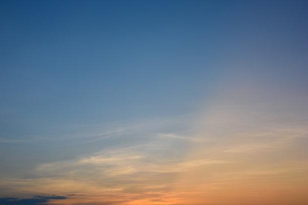 天空,云,日落