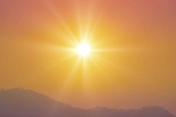 日出,天空,早晨