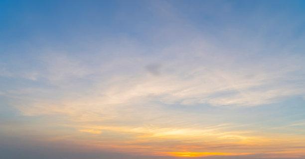 云,日落,抽象