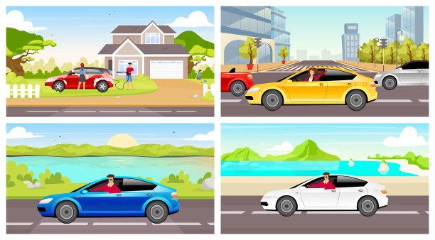 汽车,伴侣,人