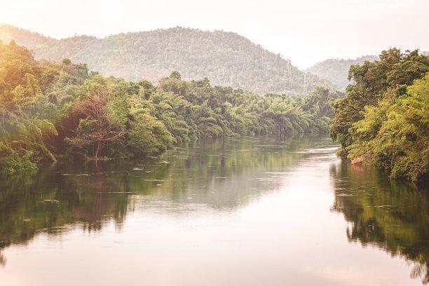 泰国,河流,自然