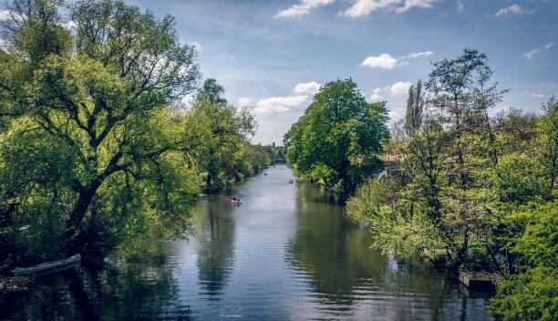 河流,地形,绿色