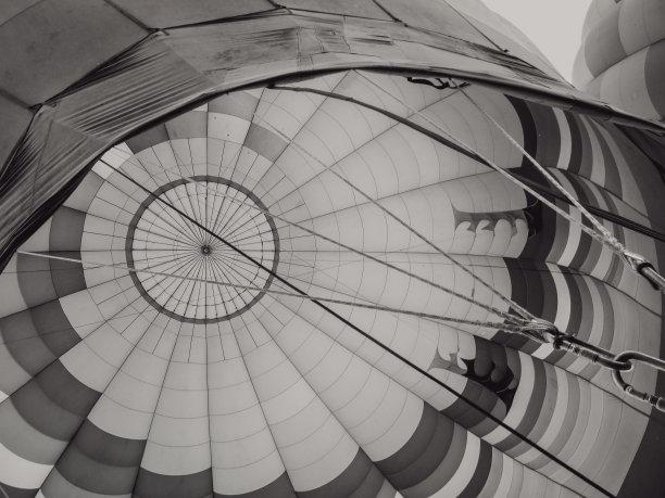 在上面,热气球,纳帕县