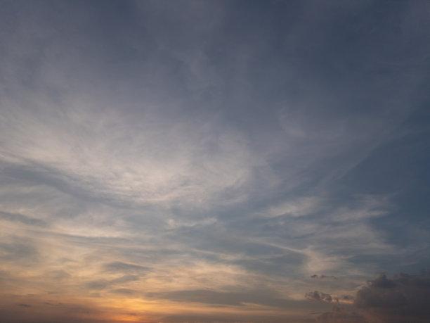 日落,戏剧性的天空,天空