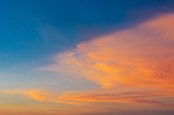 天空,多色的,黄昏