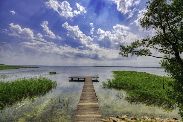风景,地形,湖