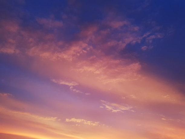 背景,日落,活力